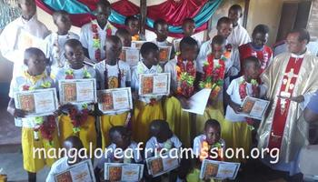First communion celebration in Kileo Substation of Kifaru Parish