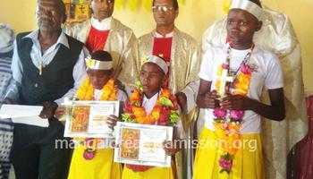 3 children get first communion at Kivisini substation of Kifaru Parish