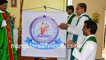 "Foundation stone laid for a home for the children-"" Rupert"""