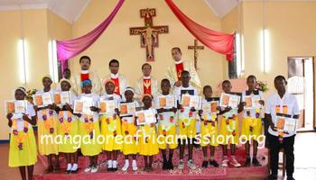 13 children received First Holy Communion at Kifaru