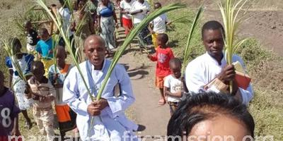 Palm sunday celebration at Same Mission, Tanzania
