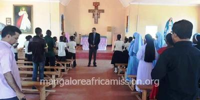 Bishop completes his maiden visit to SMA Mission Tanzania and departs to Mangalore